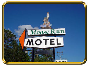 Motel Road Sign